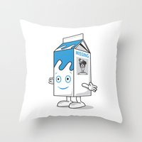 waldo Throw Pillows featuring Missing Waldo by Ale Faria