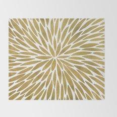 Golden Burst Throw Blanket