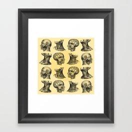 Human Anatomy Pattern II Framed Art Print