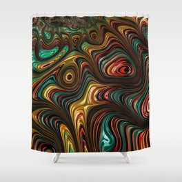 Trippy Fractal Shower Curtain