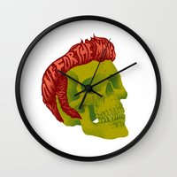 elvis Wall Clocks featuring Elvis by David Maclennan