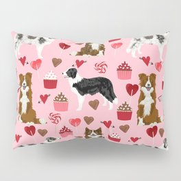 Border Collie valentines day cupcakes heart love dog breed collies gifts Pillow Sham