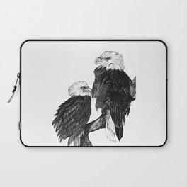 Bald Eages Ink Drawing Laptop Sleeve