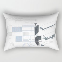 Composition Hand Drawing/Section,Plan,Elevation,Axonometric Rectangular Pillow