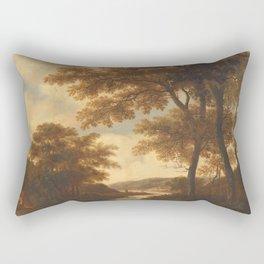 Wooded Landscape, Pieter Jansz. van Asch, 1640 - 1678 Rectangular Pillow