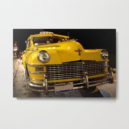 COOL CLASSIC NIGHT TAXI Metal Print