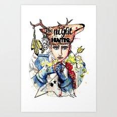 UN CHASSEUR SACHANT CHASSER Art Print