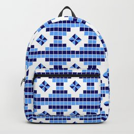 optical pattern 73 square and rhombus Backpack