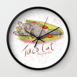 Taco Cat - Mas queso por favor Wall Clock