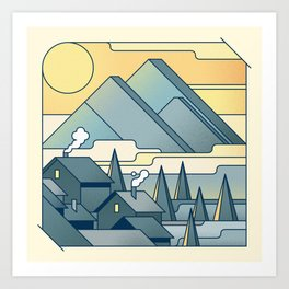 Morning on the french Alps Art Print