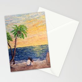 Lovers on the Beach Stationery Cards