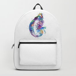 Kidney and Adrenal Gland Art Nephrologist Gift Colorful Blue Purple Artwork Clinic Art Decor Backpack