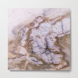 Polished Marble Stone Mineral Abstract Texture 30 Metal Print