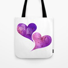Purple and Pink hearts Tote Bag