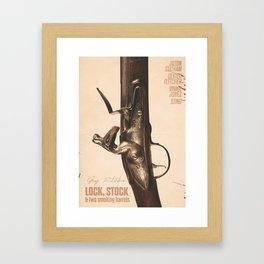 Lock, Stock and Two Smoking Barrels, Guy Ritchie, british film, Jason Statham, Vinnie Jones Framed Art Print