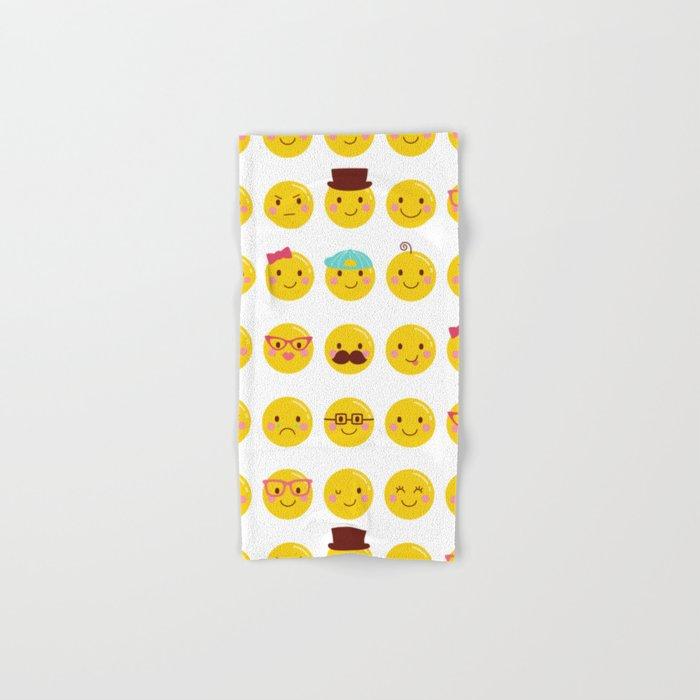 Cheeky Emoji Faces Hand Bath Towel By Misstiina Society6
