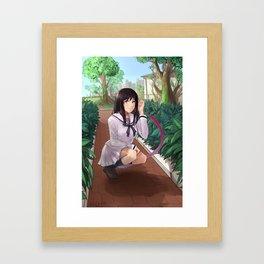 Noragami: Hiyori's Park Stroll Framed Art Print