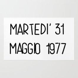 Martedì 31 maggio 1977 Rug