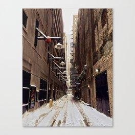 Chicago Winter Alley Canvas Print