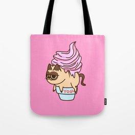 YOGURT CAT Food Animals Tote Bag