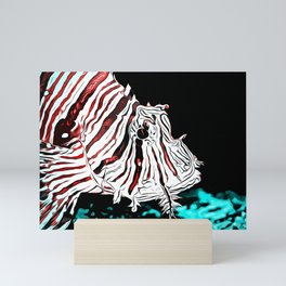 poisonous exotic lionfish va2s Mini Art Print
