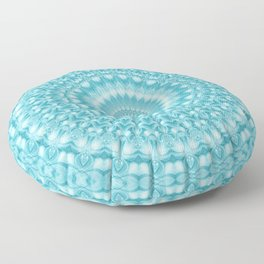 Caribbean Blue Mandala Floor Pillow