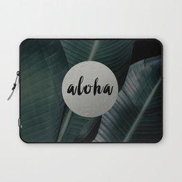 Aloha silver - banana leaf Laptop Sleeve