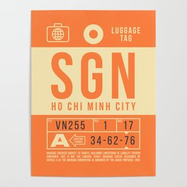 Luggage Tag B - SGN Ho Chi Minh City Vietnam Poster