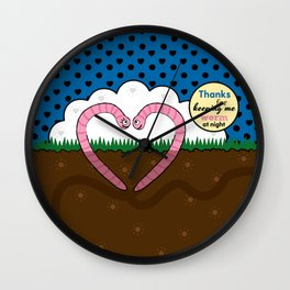 Lovebugs - Thanks for keeping me worm at night Wall Clock