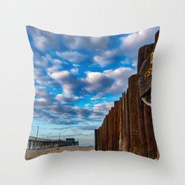 Dawn at the Dory Fleet Throw Pillow