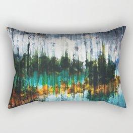Abstract Mountain Lake Rectangular Pillow