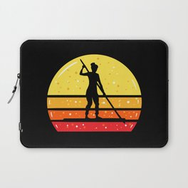 Woman On SUP Stand Up Paddleboard Laptop Sleeve