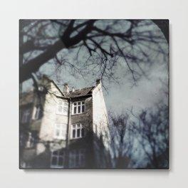 House Behind The Trees Metal Print