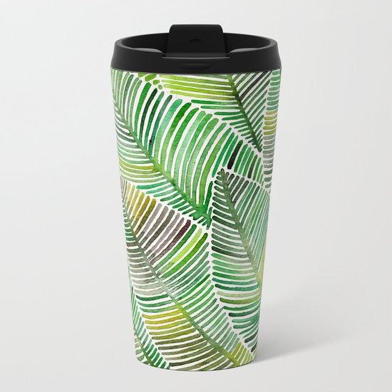Tropical Green Metal Travel Mug