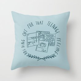 Teenage Feeling Throw Pillow