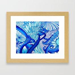 Blue Sploodge  Framed Art Print