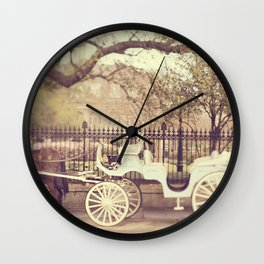 New Orleans Carriage Ride Wall Clock