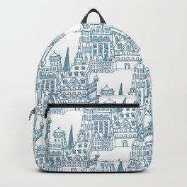 Buildings in Blue Backpack