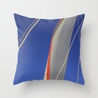 sail Throw Pillows featuring Sail by Beach Bum Chix