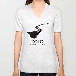 YOLO - You Only Lift Once Unisex V-Neck