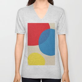 Primary colors abstract color scheme 2 Unisex V-Neck