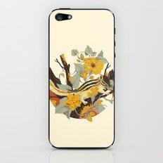 Chipmunk & Morning Glory iPhone & iPod Skin