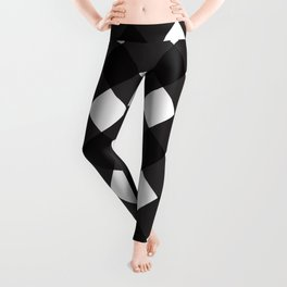 Contemporary Black & White Tilt Gingham Pattern - Mix & Match With Simplicty Of Life Leggings