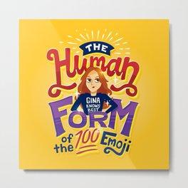 100 emoji Metal Print