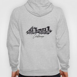 Chattanooga graphic scribble skyline in black Hoody