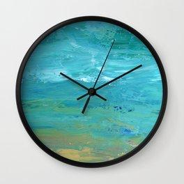 Summer Wave Wall Clock
