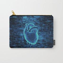 Gamer Heart BLUE TECH / 3D render of mechanical heart Carry-All Pouch