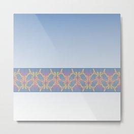 Leafy lavender Nouveau stripe Metal Print