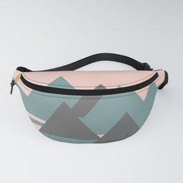 Peak Pink Grey Fanny Pack