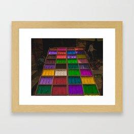 The Colors of Kathmandu City 01 Framed Art Print